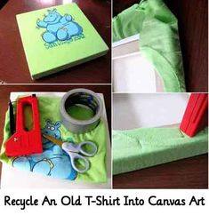 Recycle An Old T-Shirt Into Canvas Art