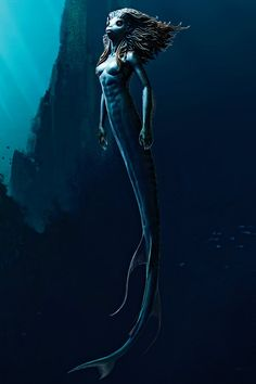 Mermaid Maquette (Harry Potter and the Goblet of Fire) concept art by Adam Brockbank Estilo Harry Potter, Arte Do Harry Potter, Harry Potter Movies, Harry Potter Creatures, Harry Potter Mermaid, Mermaid Swimming, Goblet Of Fire, Creature Concept Art, Mermaids And Mermen