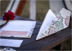 travel wedding invitation and stationary planned by Laura Dova Weddings www.lauradovaweddings.com