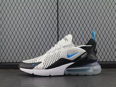 outlet store 252ec 62fab Nike Air Max 270 White Black Blue Men Sneakers Air Max 270, Men Sneakers,