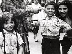 """William Klein, Little Italy, New York, 1954.   """"What I stubbornly see are one boy's bad teeth..."""""""