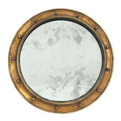 Federal Gold Leaf Round Mirror - Worlds Away