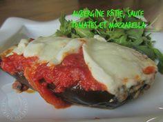 Aubergine rôtie, sauce tomates mozzarella