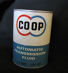 Vtg COOP Transmission Oil Double Circle Advertising Cardboard Full or Empty #COOP