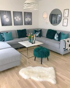 Perfect Modern Living Room Decor Ideas And Remodel Colourful Living Room, Living Room Decor Cozy, Elegant Living Room, Living Room Grey, Living Room Modern, Home Living Room, Apartment Living, Living Room Designs, Contemporary Living Room Furniture