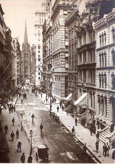 Wall Street, NYC, 1898