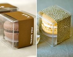 What could be better than a macaron party favour? Two macarons as a party favour!