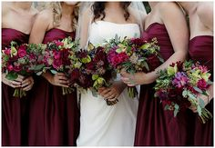 A berry-stained colour palette wedding