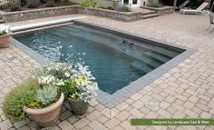 Coolest Small Pool Ideas with 9 Basic Preparation Tips – Futurist Architecture – Small Backyard Pools Small Swimming Pools, Small Backyard Pools, Backyard Pool Designs, Small Pools, Swimming Pools Backyard, Swimming Pool Designs, Backyard Patio, Backyard Landscaping, Lap Pools