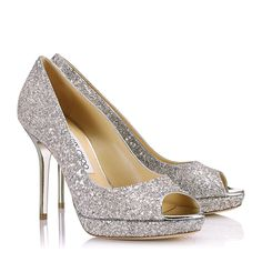 0c8da828dd8 Jimmy Choo - Luna - 133lunasyg - Lychee Glitter Fabric Platform Peep Toe  Pumps Peep Toe