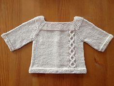 Knit top down, free pattern