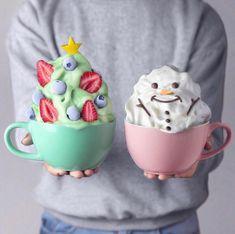 Via @love_food 🍬  #worldsuniquedesigns #loveit #lovefood #pink #mint #newyear #snowman #cream #creamy #drinks #foodanddrink #love #cute #cutecouple #likepost #likelikelike