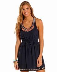 Panhandle Slim Women's Sleeveless Dress - Navy