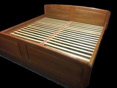 Mid Century Modern Teak Platform King Size Bed - Danish Modern Bed Floating Bedframe - Vintage Danish Teak King Size Bed - Free Delivery by DareToBeVintage on Etsy