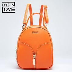 Eyes In Love small Leather backpack female new design women school backpack for Girls fashion zipper shoulder bag lady mochila Backpack For Teens, Mini Backpack, Leather Backpack, Ladies Backpack, School Backpack Organization, Designer Backpack Purse, Backpacks For College Girl, Casual Outfits For Teens, Cool Backpacks