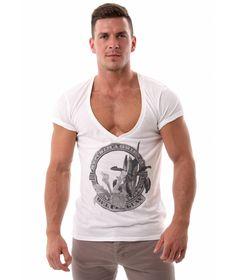 FYTA 'Uruguay Tropics' Deep V-Neck Tshirt