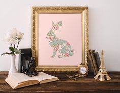 Rabbit Nursery Art Print Bunny Printable Pink Wall Art Aqua Easter Decor Floral Shabby Cottage Chic Girl's Room Instant Download 5x7 8x10 by MossAndTwigPrints on Etsy https://www.etsy.com/listing/201650499/rabbit-nursery-art-print-bunny-printable