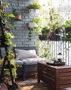Ikea Outdoor Furniture Hacks 2018 For Patio, Backyard How to Ikea Hack the Outdoor Space of Your Dre Small Balcony Design, Small Balcony Decor, Balcony Ideas, Patio Ideas, Backyard Ideas, Backyard Patio, Small Balcony Furniture, Tiny Balcony, Backyard Furniture
