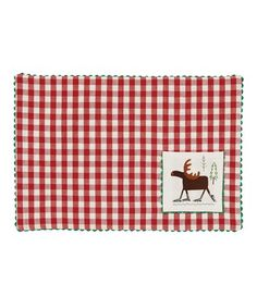 This Red Moose Skates Gingham Place Mat - Set of Four is perfect! #zulilyfinds