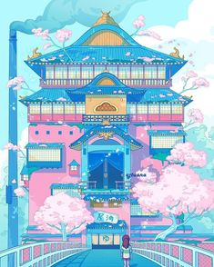 I've been really inspired by aesthetic Japan photos lately and I thought this scene in Spirited Away was perfect Ins. Aesthetic Japan, Aesthetic Art, Aesthetic Anime, Arte Do Kawaii, Kawaii Art, Kawaii Drawings, Cute Drawings, Animes Wallpapers, Cute Wallpapers