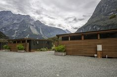 The Mountain View Chalets at Milford Sound Lodge, Fiordland National Park, is a stunning place to unwind with a glass of wine. Marlborough Sounds, Central Otago, Great Walks, Milford Sound, Mountain High, Crystal Clear Water, Turquoise Water, South Island, Walking Tour