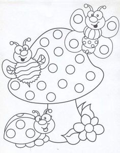 Q-Tip painting sheets Cute Coloring Pages, Printable Coloring Pages, Free Coloring, Adult Coloring Pages, Coloring Pages For Kids, Coloring Sheets, Coloring Books, Kids Coloring, Painting Sheets