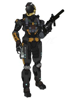 Commission: SPARTAN - B111 by Guyver89