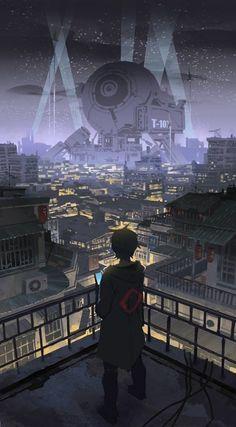 #cyberpunk cyberpunk-sawana på jakt etter jobber 의 일러스트 -pixiv Arte Cyberpunk, Cyberpunk City, Cyberpunk Anime, Cyberpunk Aesthetic, Futuristic City, City Aesthetic, Aesthetic Anime, Fantasy Landscape, Fantasy Art