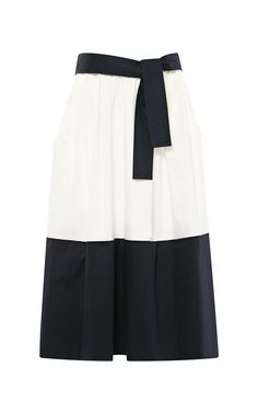 Two-Tone Cotton-Sateen Skirt by Tome Now Available on Moda Operandi