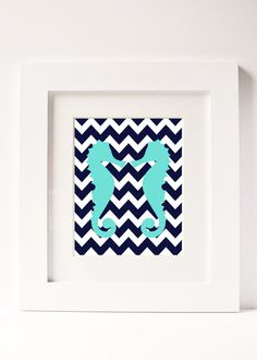 A personal favorite from my Etsy shop https://www.etsy.com/listing/118460654/seahorse-preppy-chevron-stripes