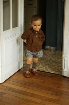 Knickers and knee socks.