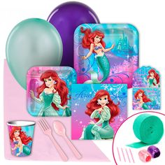 Little Mermaid Sparkle Value Party Pack from BirthdayExpress.com