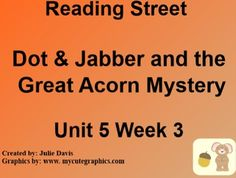 This is a SmartBoard activity to accompany Scott Foresman's Reading Street Unit 5 Dot & Jabber and the Great Acorn Mystery. This is a 5 day lesson with multiple activities for each day that include high frequency words instead & another, inflected endings -ed -ing, vowel oo, journal activities, games, videos and much more. This lesson also includes learning why we want to find answers to some questions, detectives, and chickens. There is also lessons on compare and contrast and how sentences…