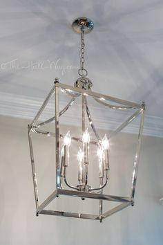 Foyer - Capitol Lighting Stanton Foyer Light, Behr Sculptor Clay instead of BM R. Foyer – Capitol Lighting Stanton Foyer Light, Behr Sculptor Clay instead of BM Revere Pewter, Beh Lantern Pendant Lighting, Foyer Chandelier, Entryway Lighting, Foyer Lighting, Dining Room Lighting, Chandeliers, Lighting Ideas, Silver Pendant Lights, Lantern Light Fixture