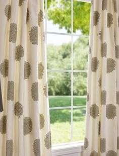 Chrysanthemum Printed Cotton Curtains And Drapes - contemporary - curtains - - by Half Price Drapes