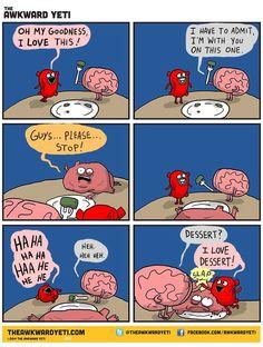 Brain Heart vs. Stomach
