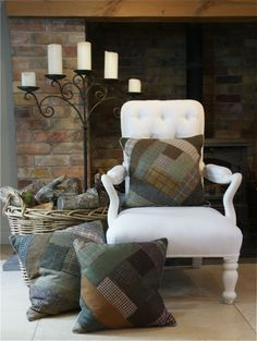 Tweed Cushions from Sally Dinham-Scott