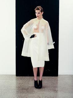 Organza Jacket & Leatherette Skirt