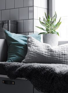 Home in green and grey - via cocolapinedesign.com