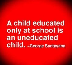There's only so much that can be taught at school