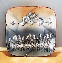 "Van Dop Gallery | Artists | Ceramic: ""Plate"" by Kinichi Shigeno International Artist, Kind Words, Garden Art, Unique Gifts, Arts And Crafts, Van, Plates, Entertaining, Ceramics"