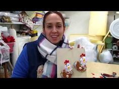 TUTORIAL GALLINITA CON IMÁN - YouTube Textiles, Hobbit, Diy And Crafts, Sewing Projects, Make It Yourself, Cactus, Scrappy Quilts, Diy Creative Ideas, Creativity