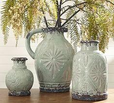 buy one small for bathroom vanity tray...Carolina Vases #potterybarn