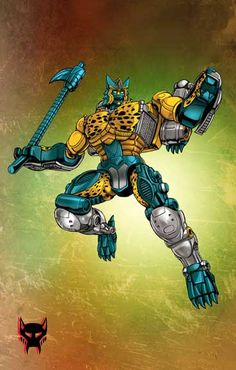 "Here's an older drawing of Transmetal Cheetor that I originally drew for IDW Beast Wars Sourcebook awhile back. Thanks to Evan ""xero mayhem"" for doing a great job on the colors for this piece."