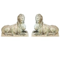 "Pair of Sphinxes - Pair of Sphinxes. France, c. 1880's. Impressive pair of beautifully carved French ""Madame Pompadour"" sphinxes."