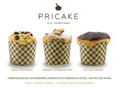 Os mini panetones estão disponíveis em três sabores: banana com castanha do pará, frutas cristalizadas e chocolate trufado.