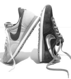Minimal + Classic: Grey Nike Sneakers