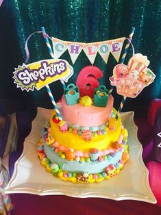 Shopkins Decoration Ideas Elegant Diy Shopkins Cake Birthdays The main design involving how we live Shopkins Cake Toppers, Shopkins Birthday Cake, Birthday Cakes, Daisy, Party Fiesta, Diy Birthday Decorations, 6th Birthday Parties, Birthday Ideas, Diy Cake