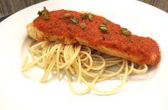 salmon en salsa de pimiento morron
