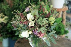 カラークリスタルブラッシュ/ユーカリ/ブーケ/花束/花どうらく/花屋/http://www.hanadouraku.com/bouquet